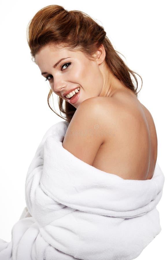 Femme adulte avec la peau de santé du visage photo libre de droits