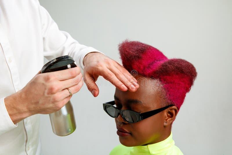 Femme adulte d'apparence d'image au salon de coiffure image libre de droits