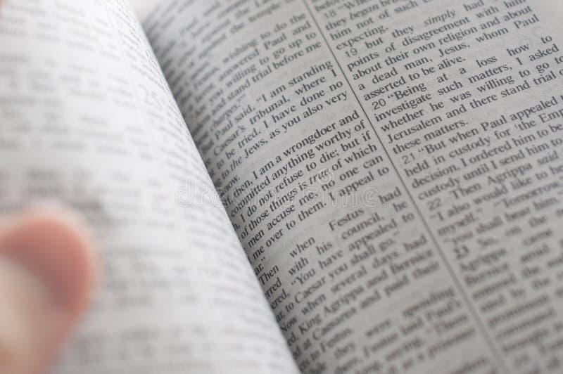 Femme affichant la bible photos stock
