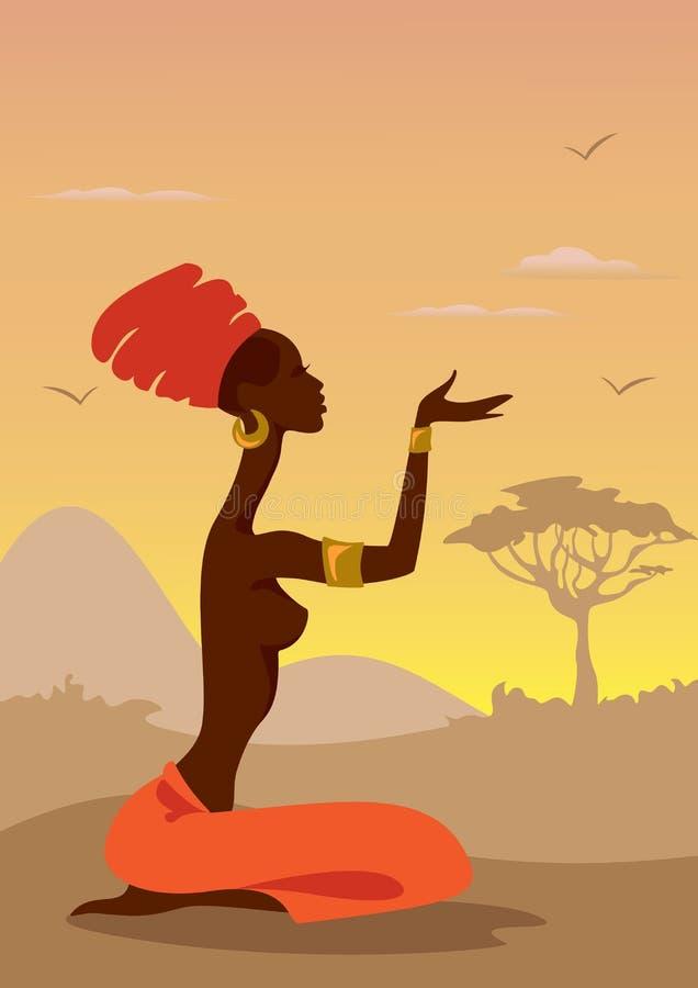 Femme africain illustration de vecteur