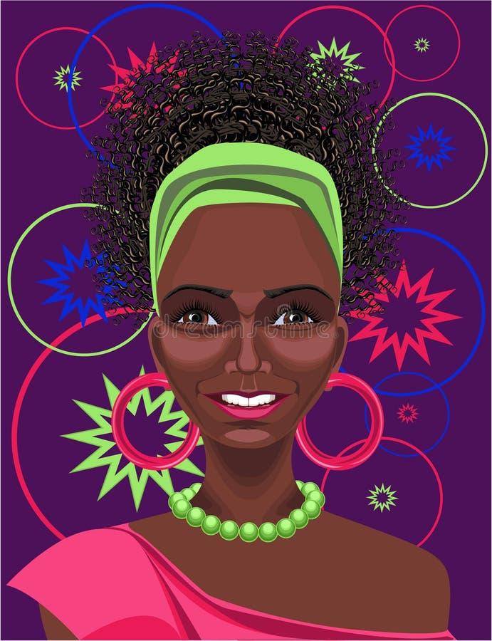 Femme africain illustration stock