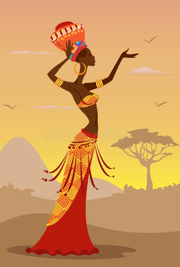 Femme africaine illustration de vecteur