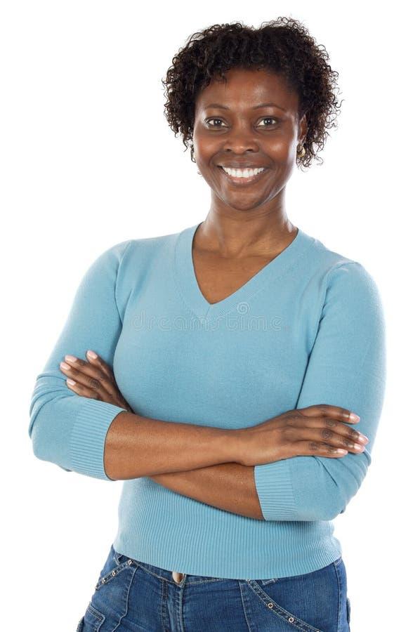 Femme africaine attirante photographie stock