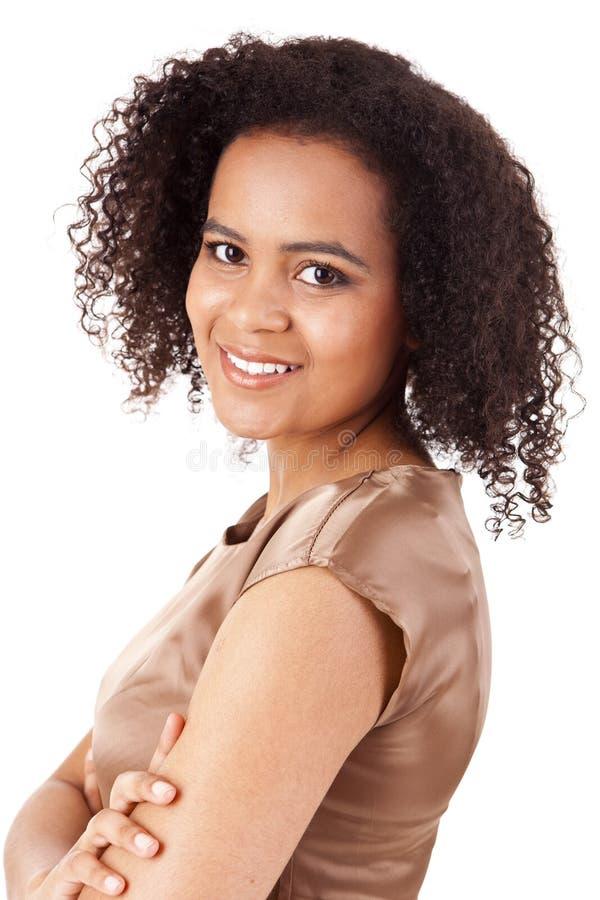 Femme africaine d'affaires photo stock