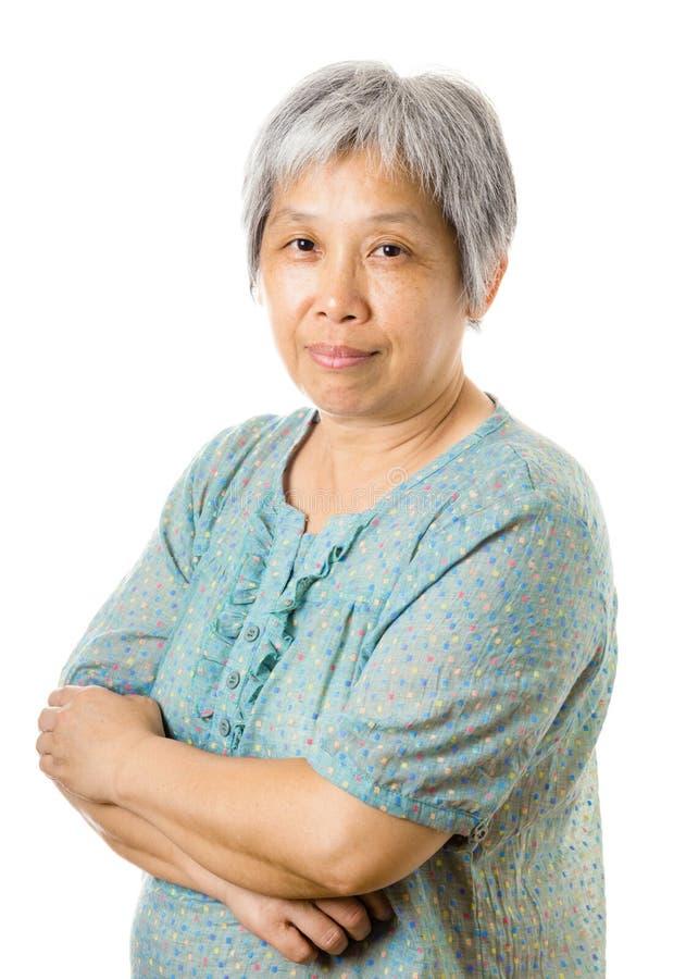 Femme agée asiatique image stock