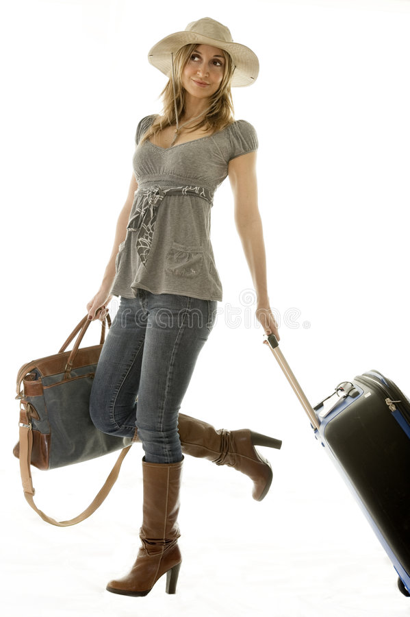 femme allante de vacances images stock