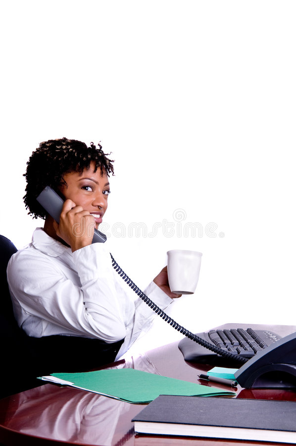 Femme américaine d'affaires photo stock