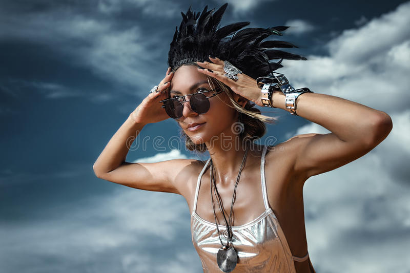 Femme anormale photo stock
