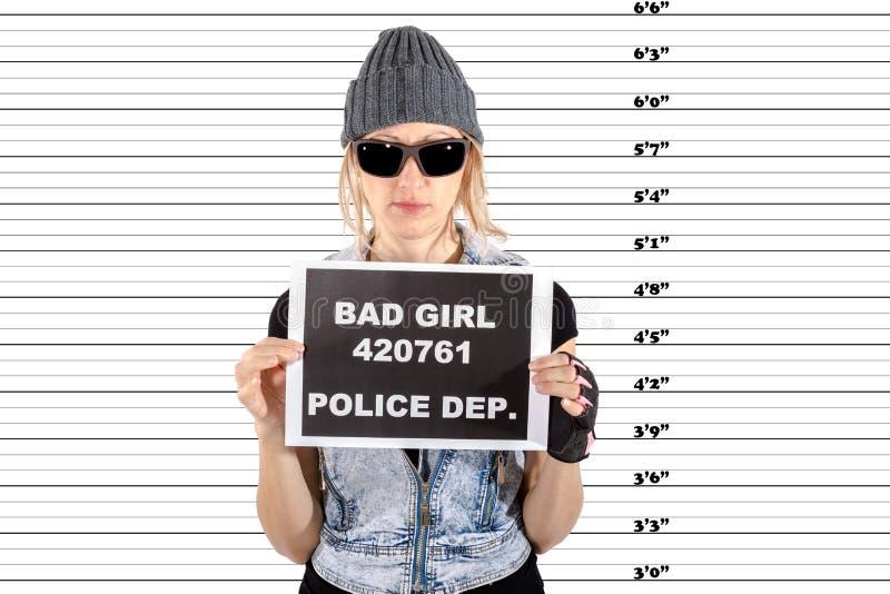 Femme arrêtée images libres de droits