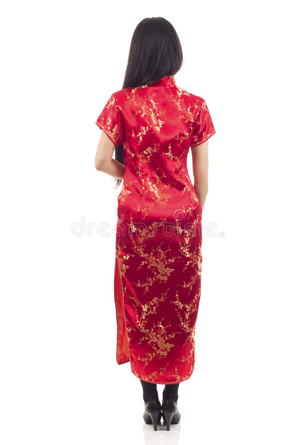 Femme arrière d'Asiatique de vue image libre de droits