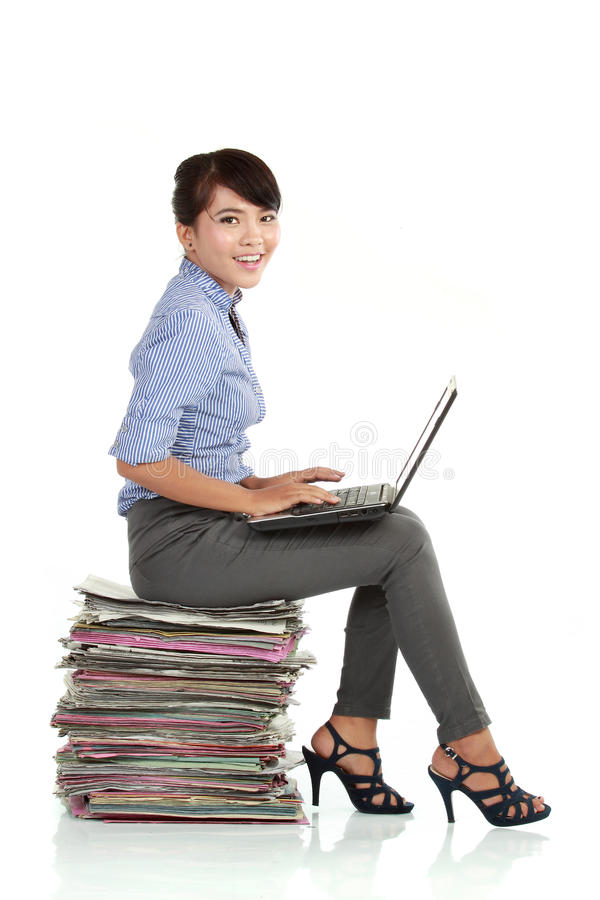 Femme asiatique d'affaires photographie stock