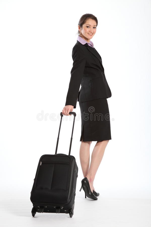 Femme asiatique de course d'affaires de première classe belle photographie stock libre de droits