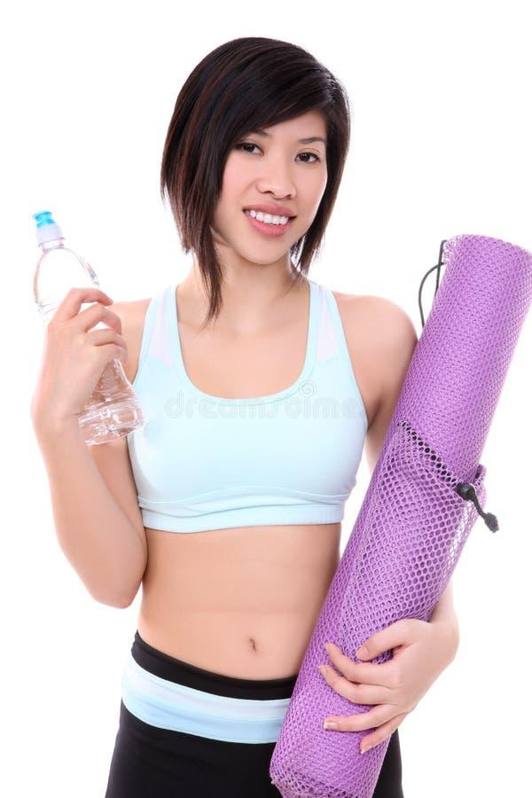femme asiatique de forme physique photo stock