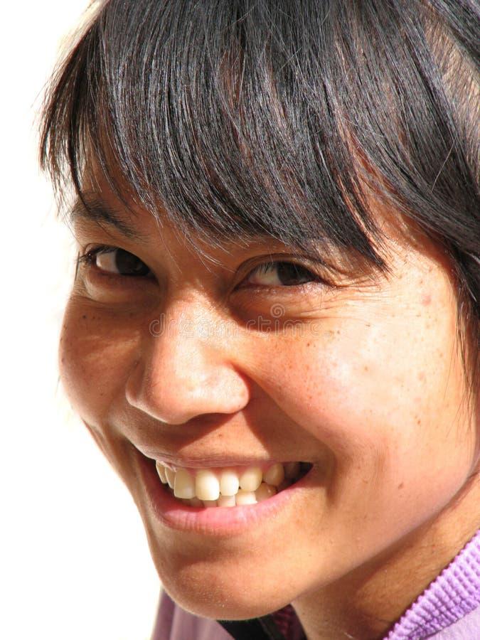 Femme asiatique de sourire photos stock