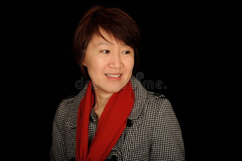 femme asiatique de verticale image stock