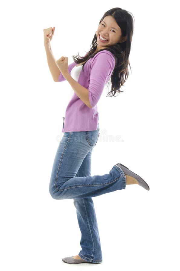 Femme asiatique Excited photos stock