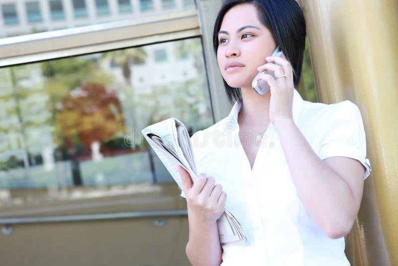 Femme asiatique mignonne d'affaires images libres de droits