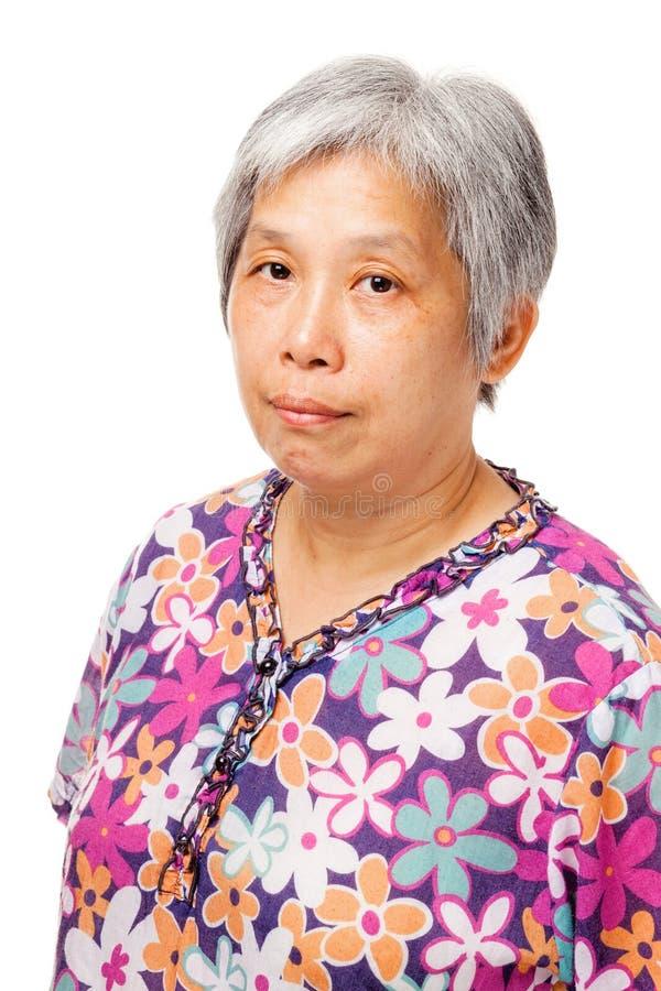 Femme asiatique pluse âgé photo stock