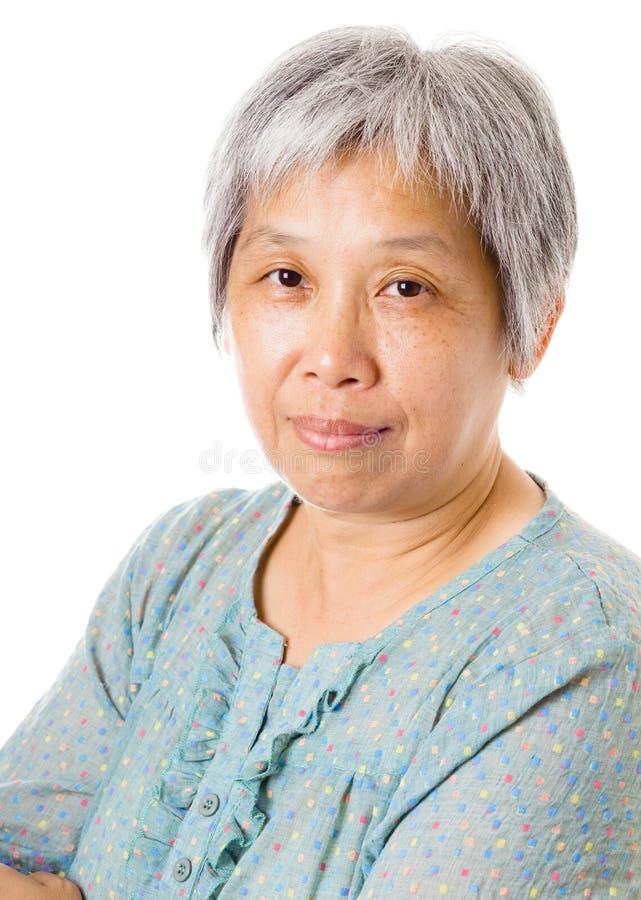 Femme asiatique pluse âgé photos stock