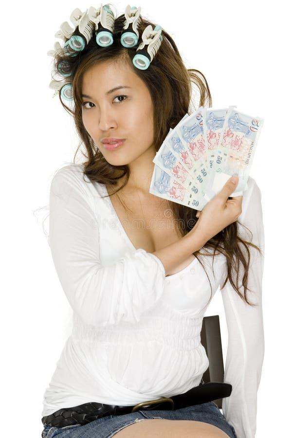 Femme asiatique riche image libre de droits