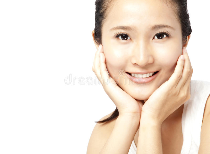 Femme asiatique \ 'visage de s photos libres de droits