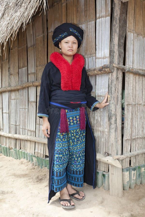 Femme asiatique, Yao, du Laos photos stock