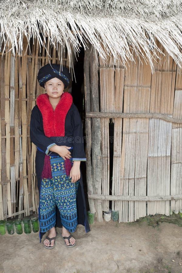 Femme asiatique, Yao, du Laos photo libre de droits