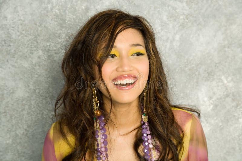 Femme assez asiatique images libres de droits