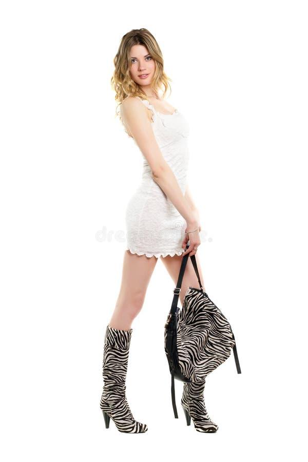 Femme assez blonde image stock