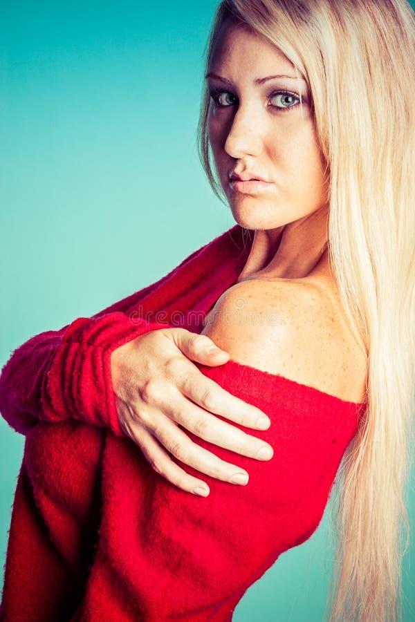 Femme assez blonde photos stock