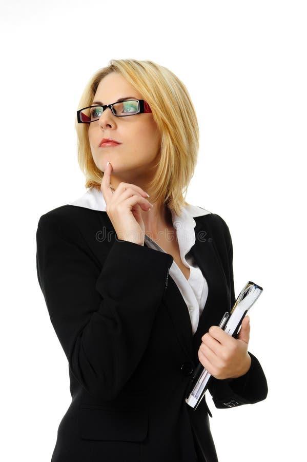 Femme assez blonde d'affaires images libres de droits