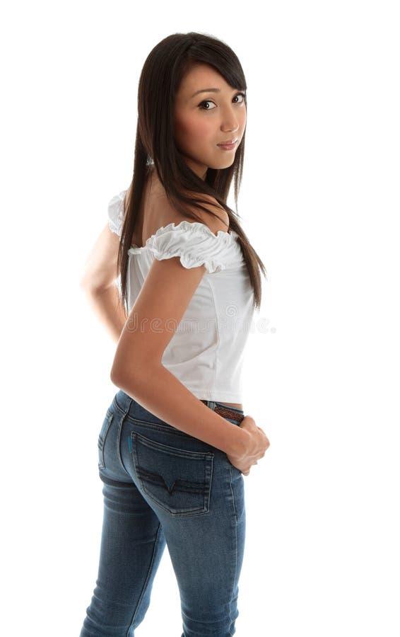 Femme assez jeune photos stock