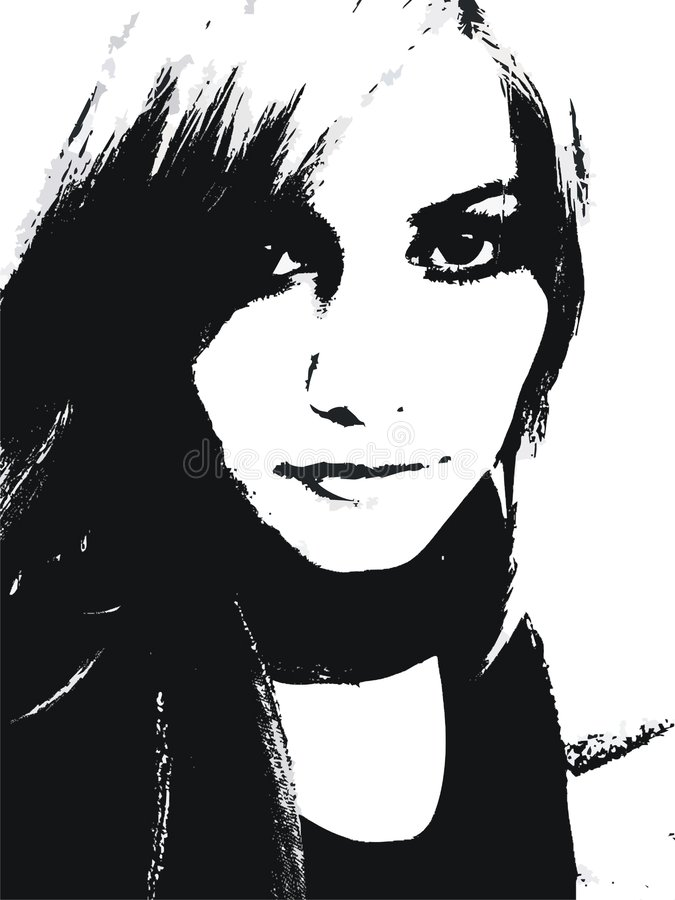 Femme assez jeune illustration stock