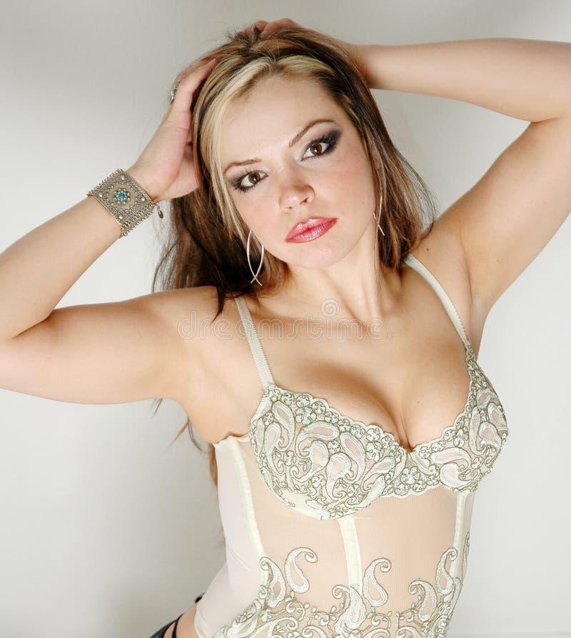 Femme attirant image stock
