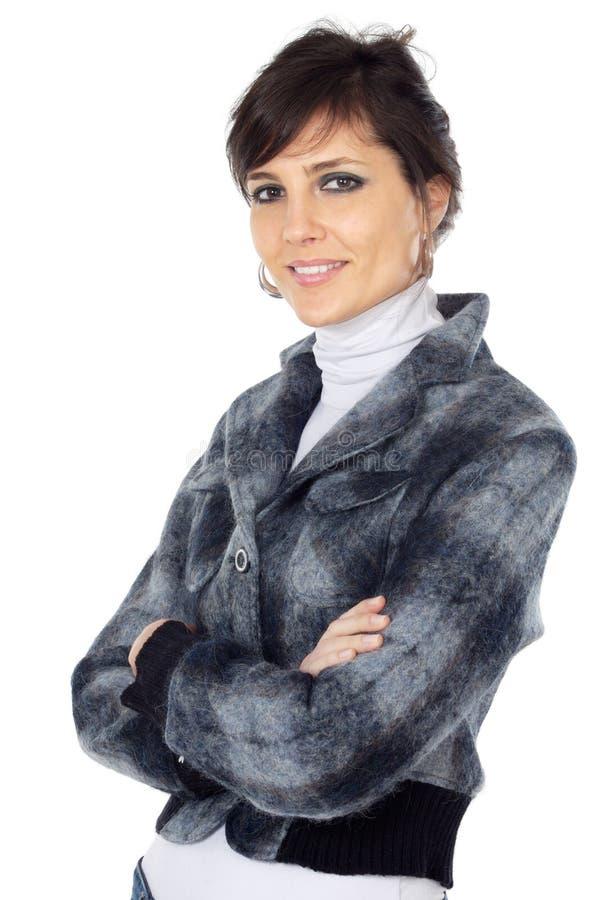 Femme attirant et élégant d'affaires photographie stock