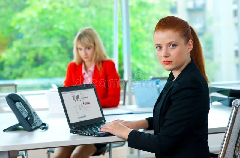 Download Femme Attirante D'affaires Dans Le Bureau Avec Le Collègue à L'arrière-plan Photo stock - Image du fond, corporate: 45366952