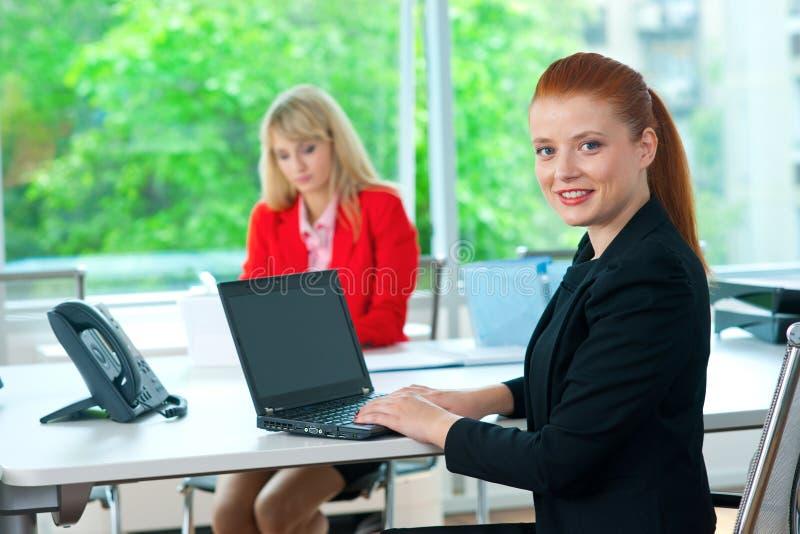 Download Femme Attirante D'affaires Dans Le Bureau Avec Le Collègue à L'arrière-plan Image stock - Image du people, entrepreneur: 45366965