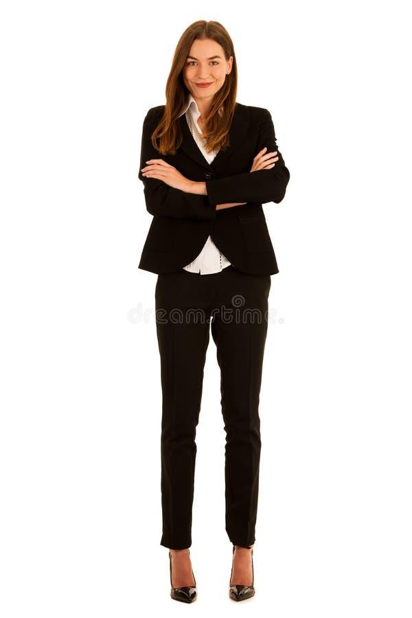 Femme attirante d'affaires - portrait corporatif intégral ISL images stock