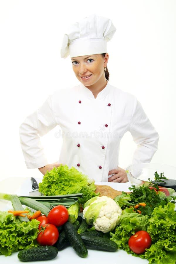 Femme attirante de cuisinier photo libre de droits