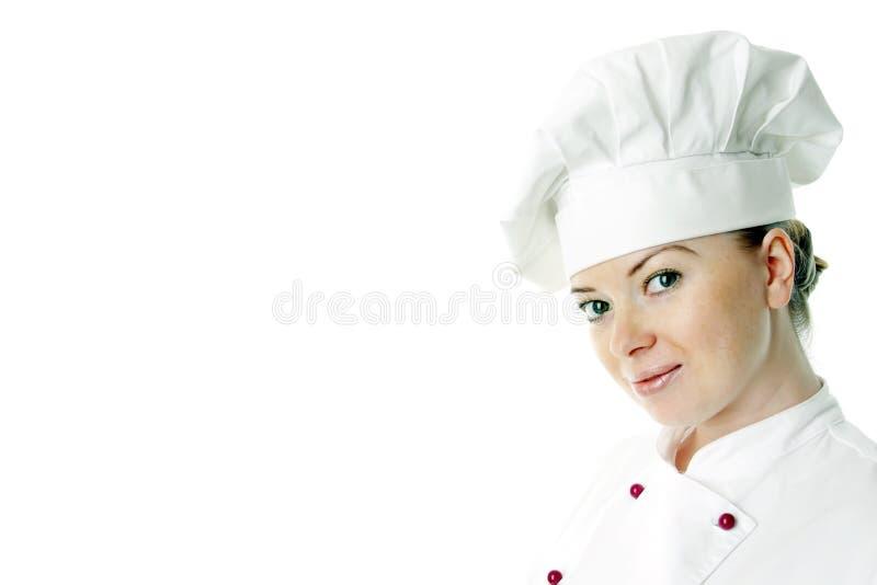 Femme attirante de cuisinier photo stock
