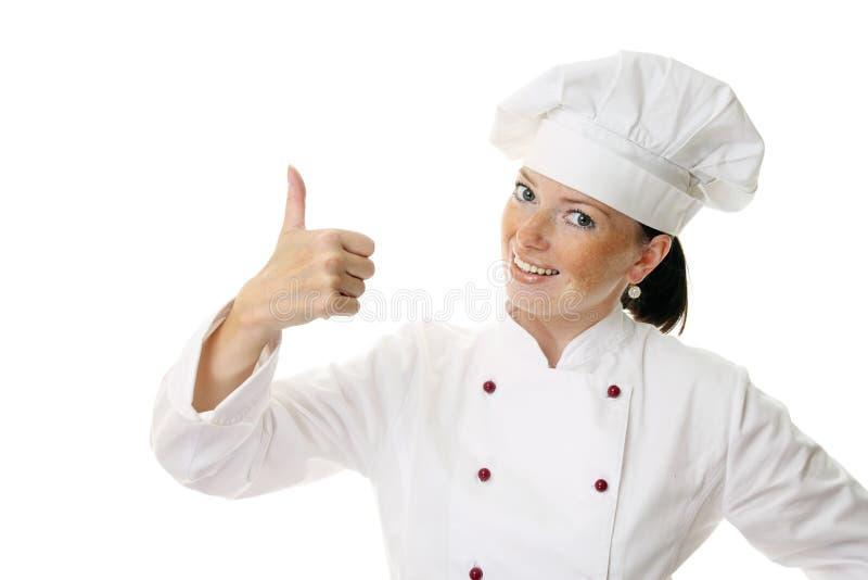 femme attirante de cuisinier photographie stock