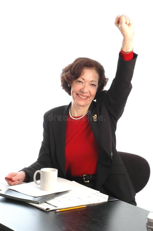 Femme au bureau 705 photo stock