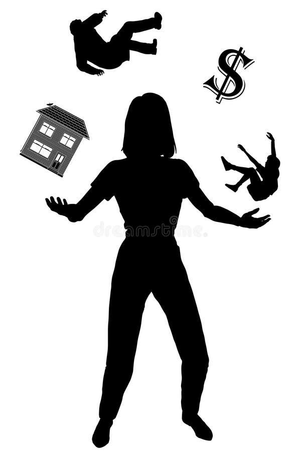 Femme au foyer illustration stock