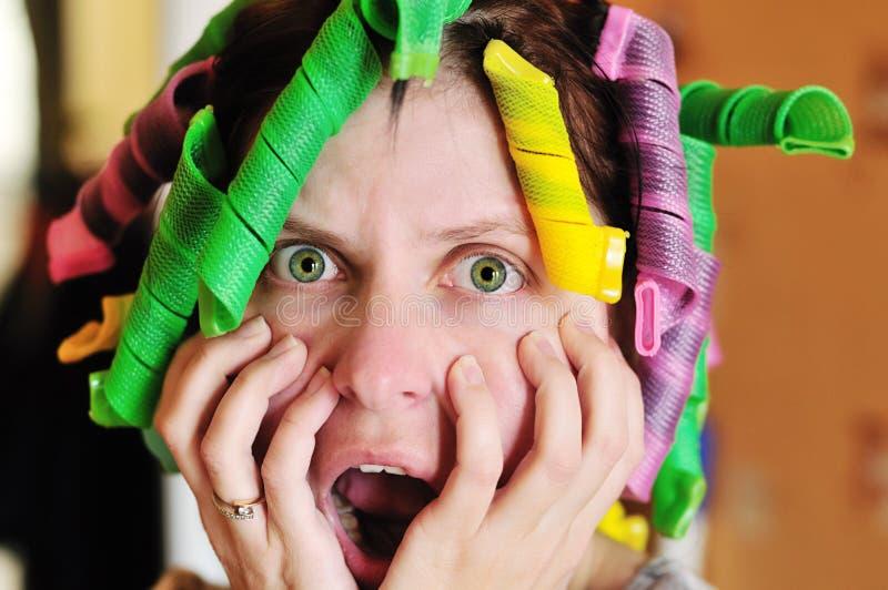 Femme au foyer désespérée photographie stock