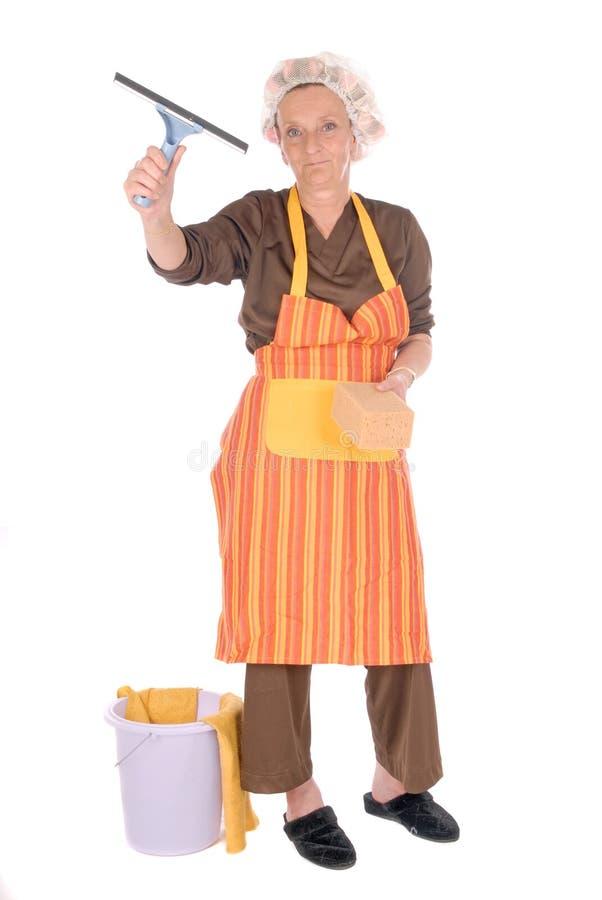Femme au foyer de nettoyage photos libres de droits