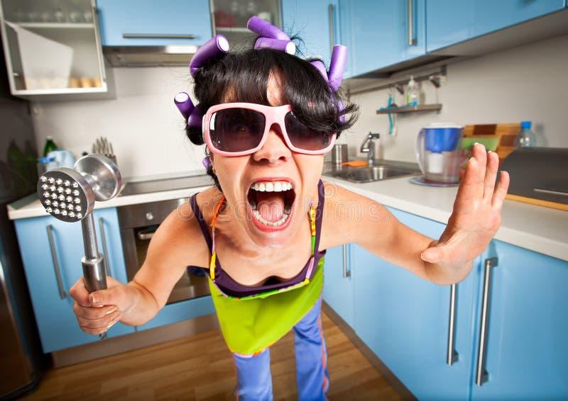 Femme au foyer folle photos libres de droits