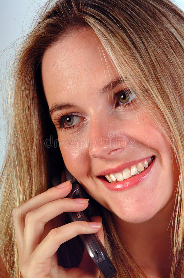 Femme au téléphone photos stock