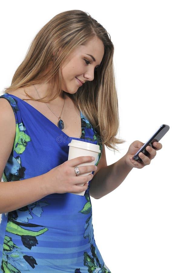 Femme au téléphone image libre de droits