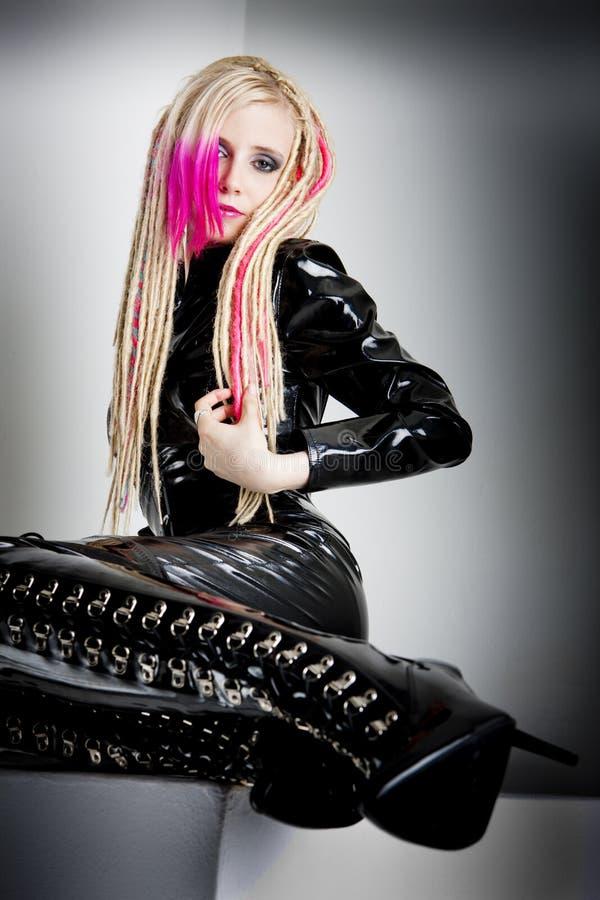 Femme avec des dreadlocks photos stock