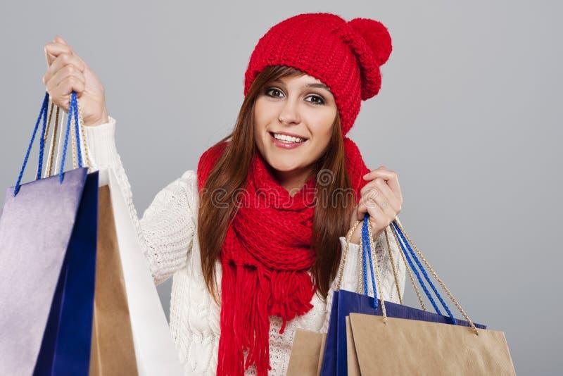 Femme avec des paniers photos stock